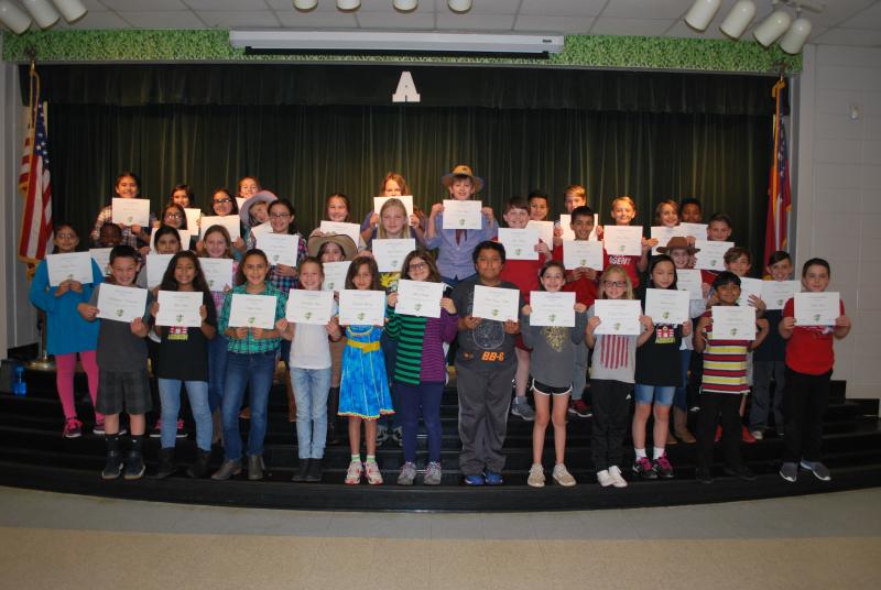4th grade principal honor roll Q1 2017
